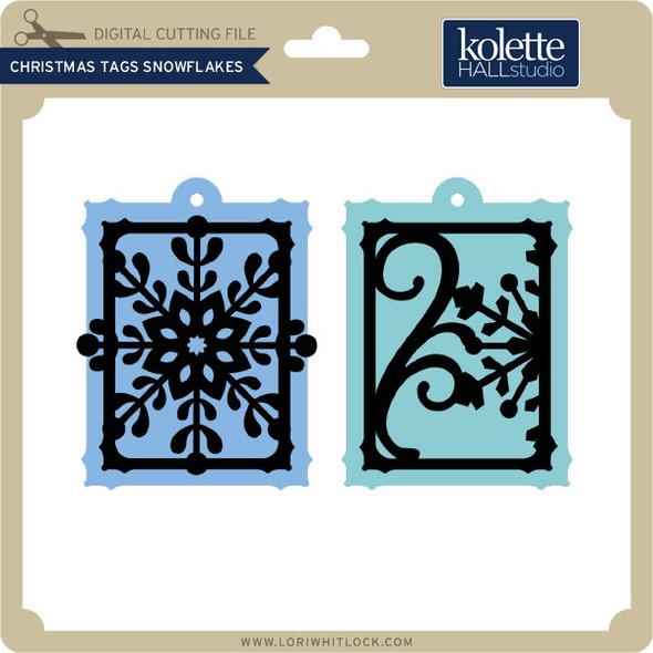 Christmas Tags Snowflakes