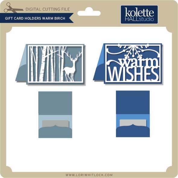 Gift Card Holders Warm Birch