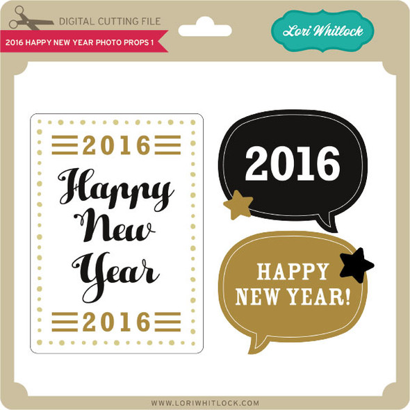 2016 Happy New Year Photo Props 1