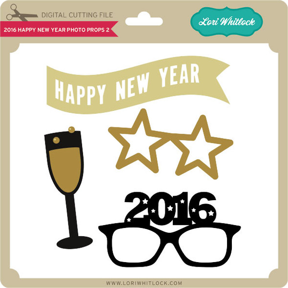 2016 Happy New Year Photo Props 2