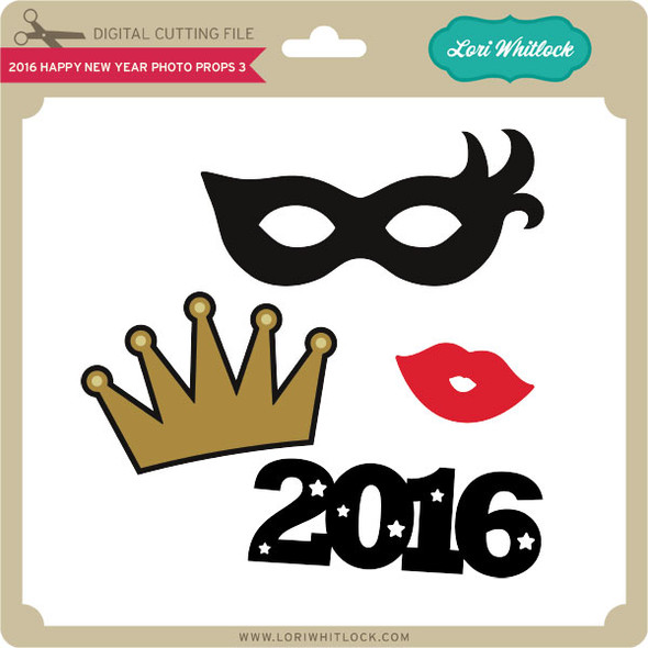 2016 Happy New Year Photo Props 3