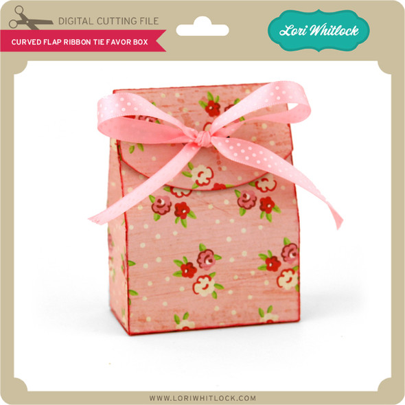Curved Flap Ribbon Tie Favor Box
