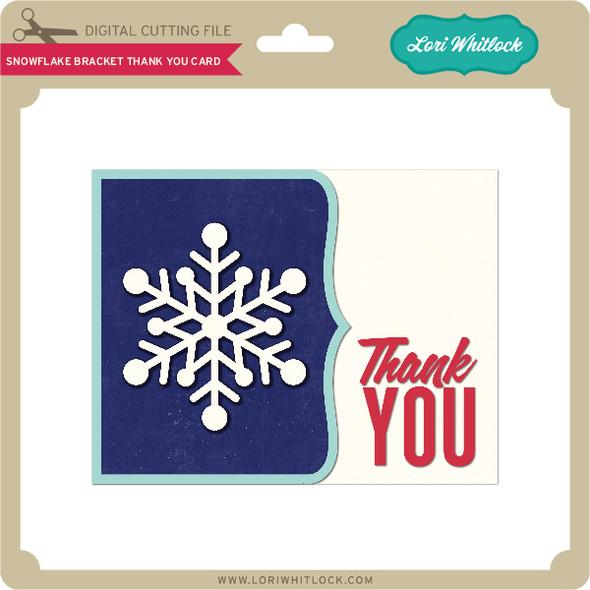 Snowflake Bracket Thank You Card