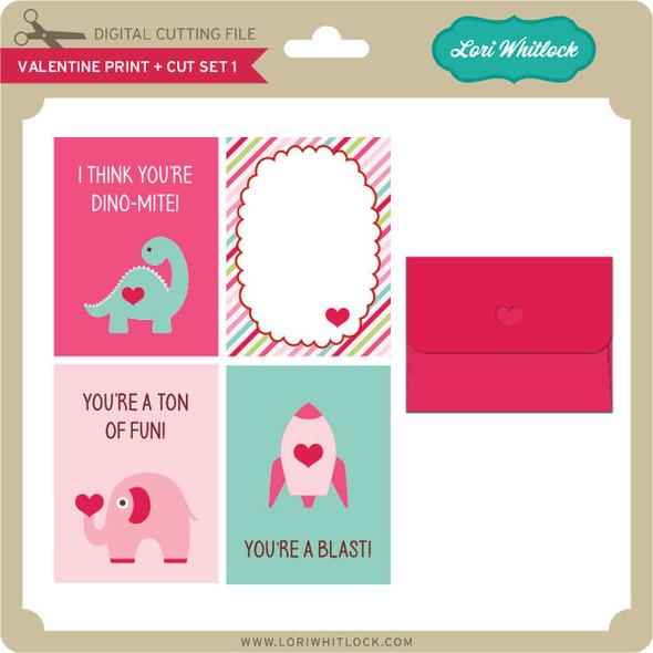 Valentine Print + Cut Set 1