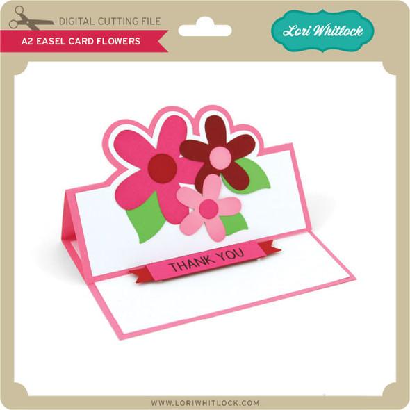 A2 Easel Card Flowers
