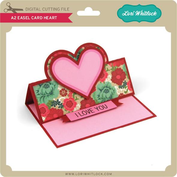 A2 Easel Card Heart