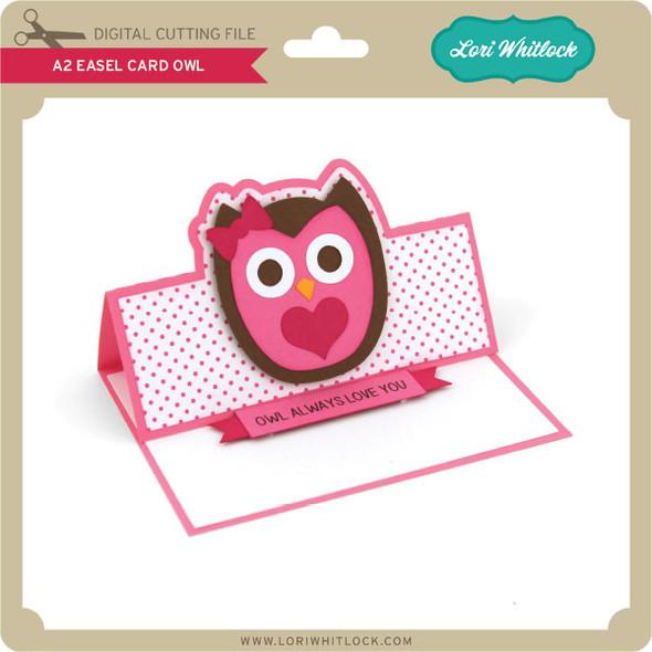 A2 Easel Card Owl