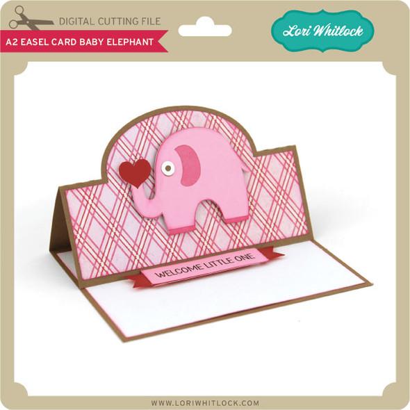A2 Easel Card Baby Elephant