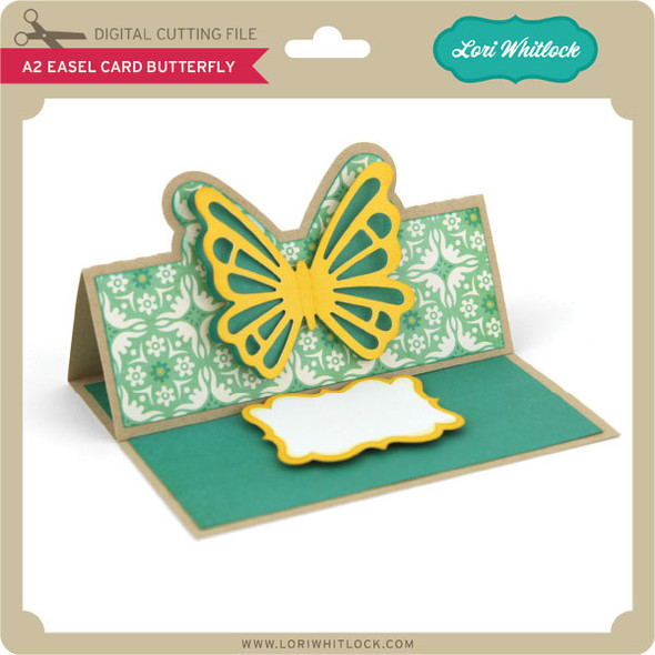 A2 Easel Card Butterfly