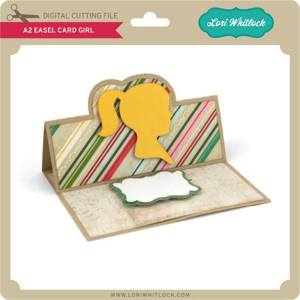 A2 Easel Card Girl