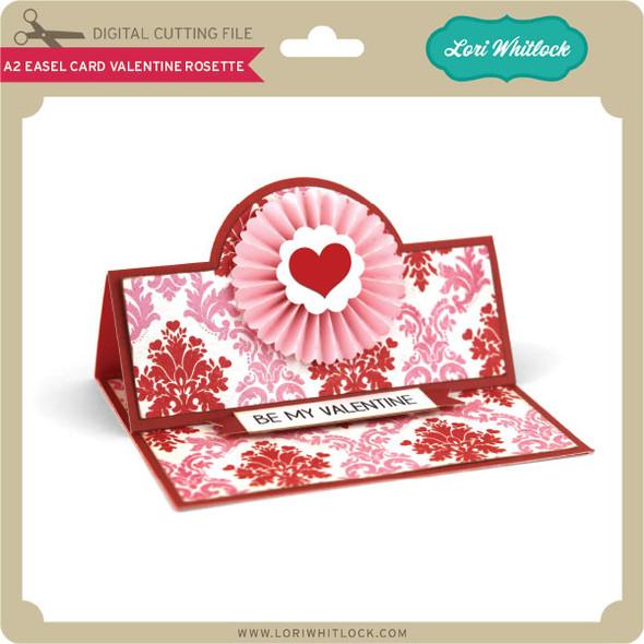 A2 Easel Card Valentine Rosette