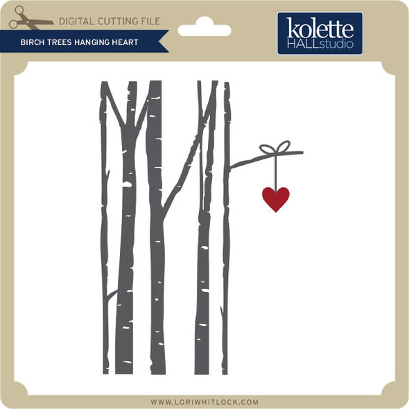 Birch Trees Hanging Heart