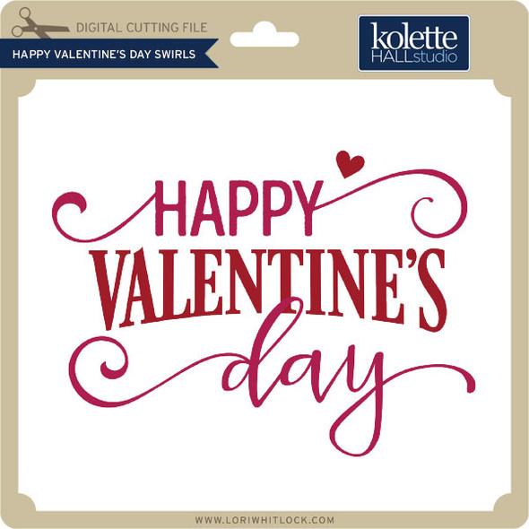 Happy Valentines Day Swirls
