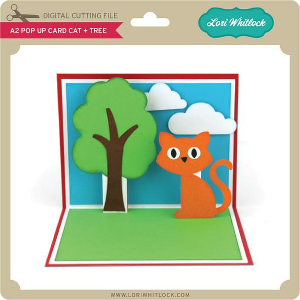 A2 Pop Up Card Cat Tree