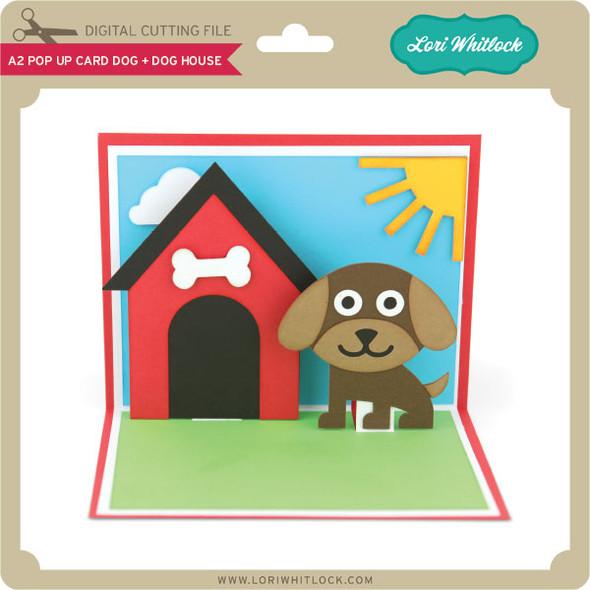 A2 Pop Up Card Dog Dog House