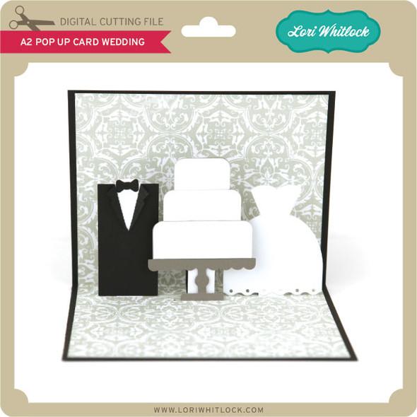 A2 Pop Up Card Wedding