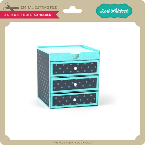 3 Drawers Notepad Holder