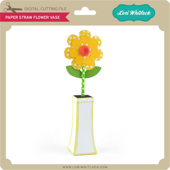 Paper Straw Flower Vase