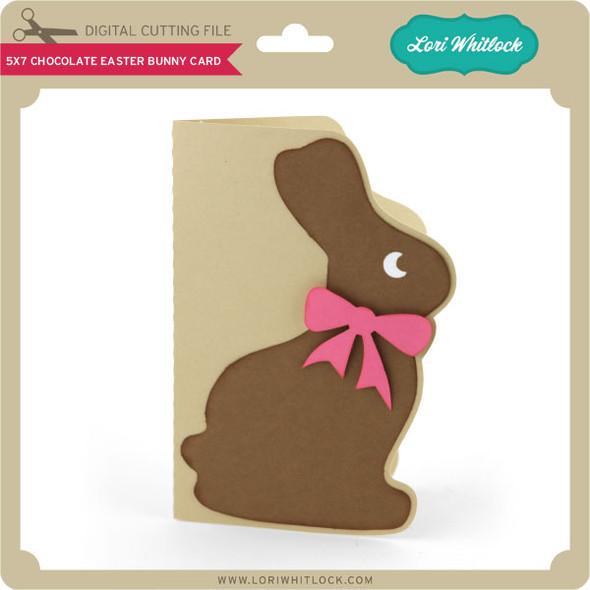 5x7 Chocolate Easter Bunny Card