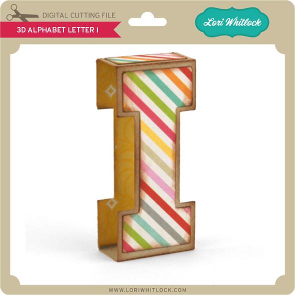 3D Alphabet Letter I
