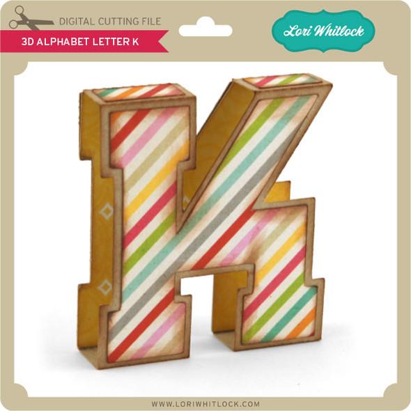 3D Alphabet Letter K