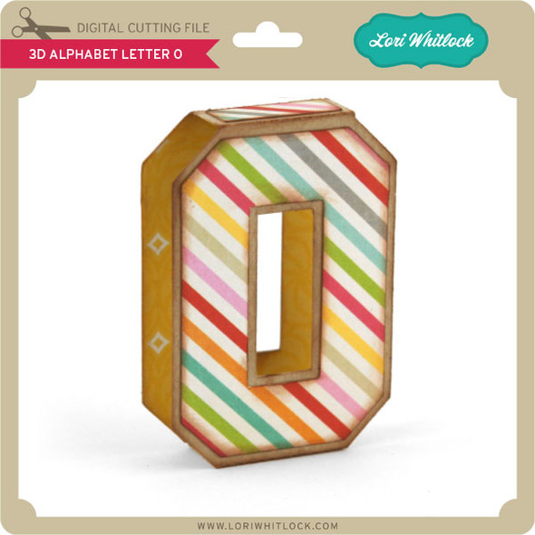 3D Alphabet Letter O