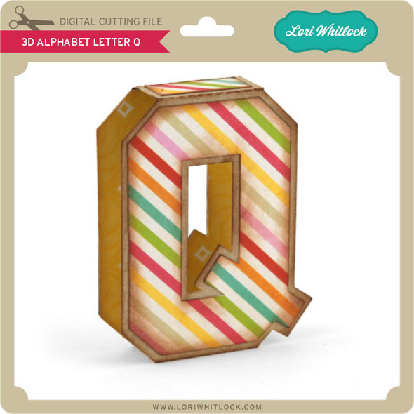 3D Alphabet Letter Q
