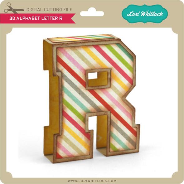 3D Alphabet Letter R