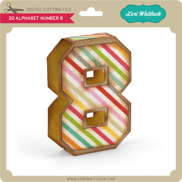 3D Alphabet Number 8