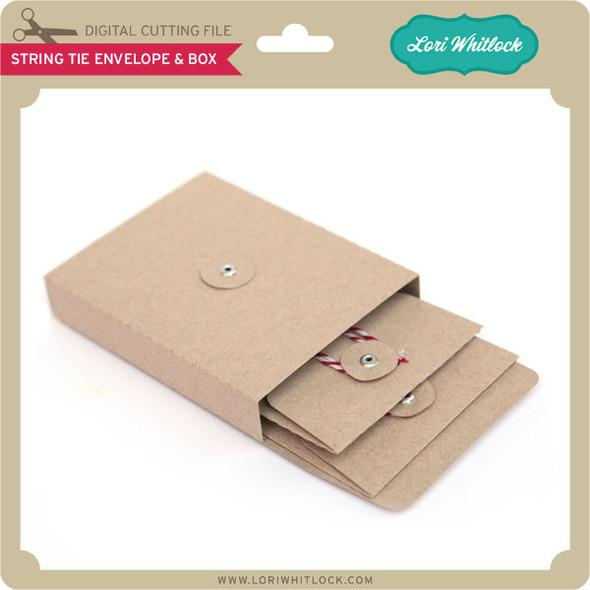 String Tie Envelope & Box