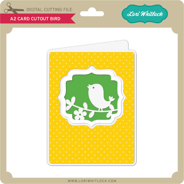 A2 Card Cutout Bird