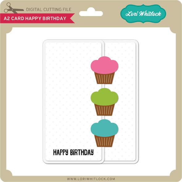 A2 Card Happy Birthday