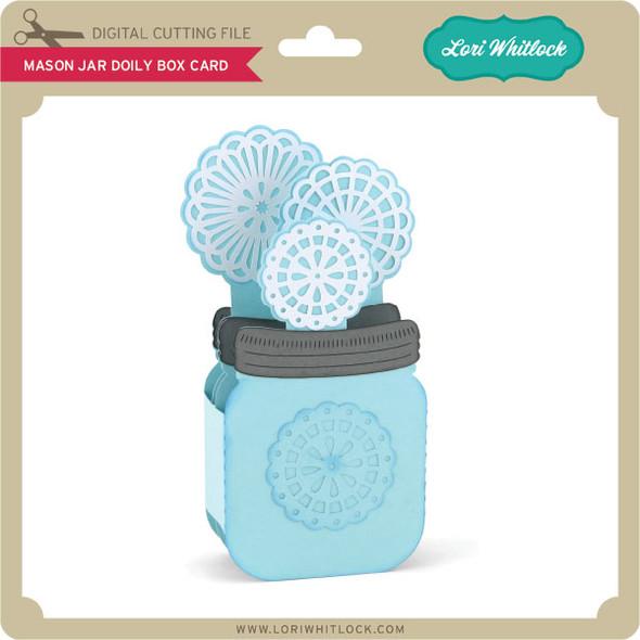 Mason Jar Doily Box Card