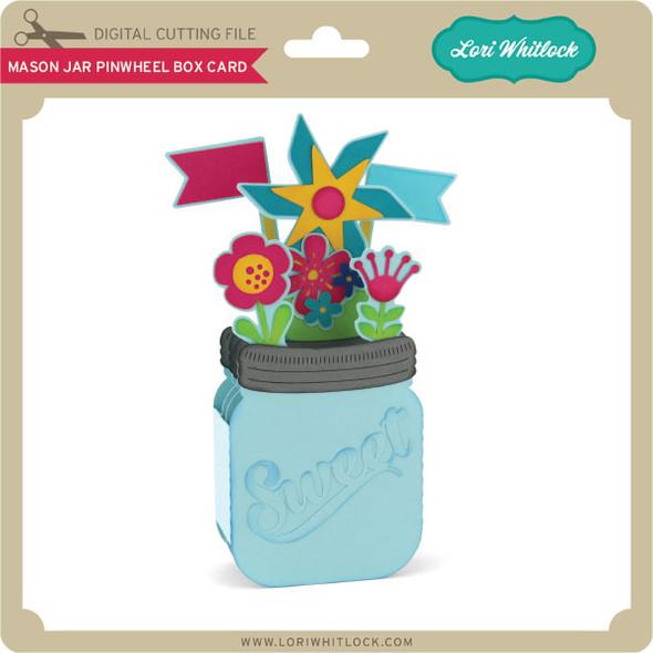 Mason Jar Pinwheel Box Card