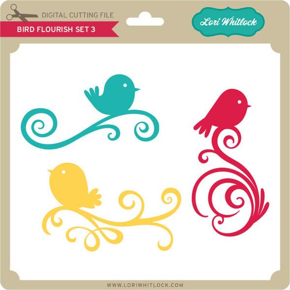Bird Flourish Set 3