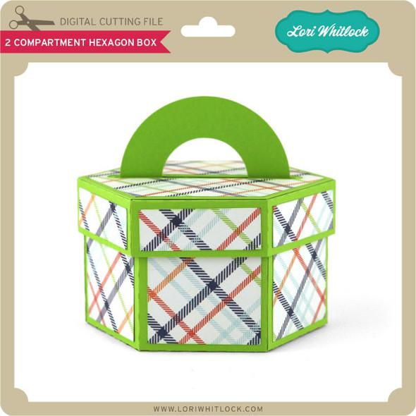 2 Compartment Hexagon Box