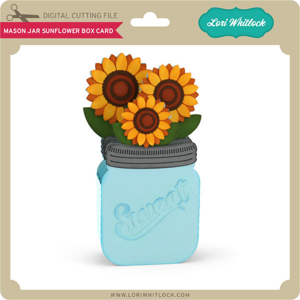 Mason Jar Sunflower Box Card