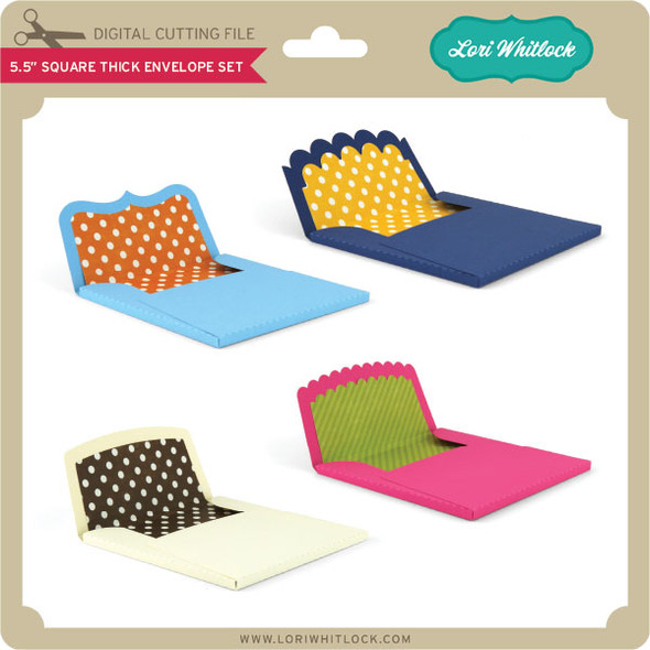 5.5 inch Square Thick Envelope Set