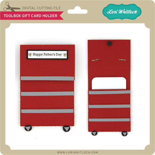 Toolbox Gift Card Holder