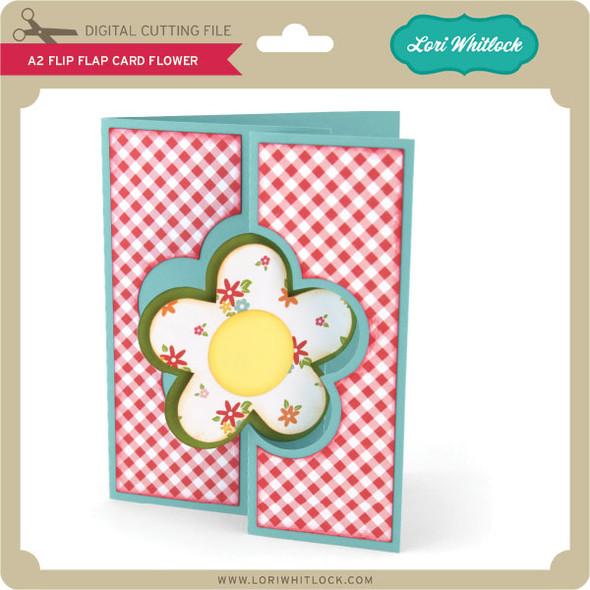 A2 Flip Flap Card Flower