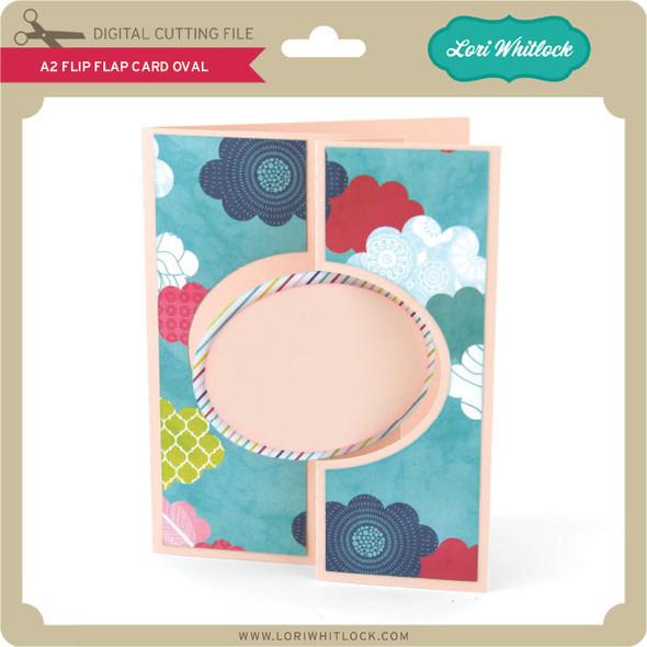 A2 Flip Flap Card Oval
