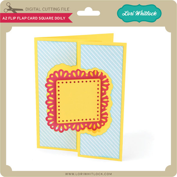A2 Flip Flap Card Square Doily