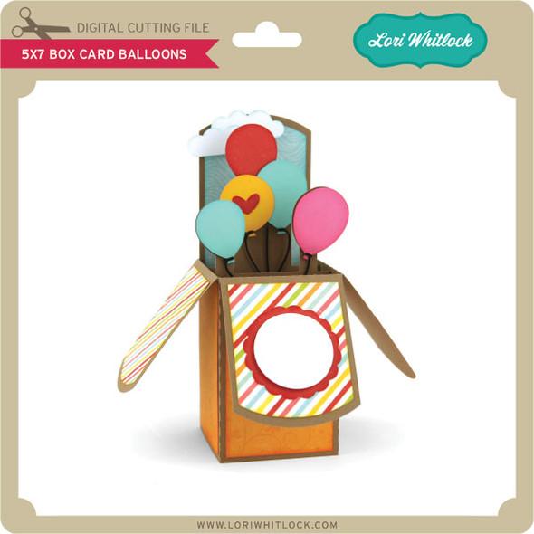 5x7 Box Card Balloons