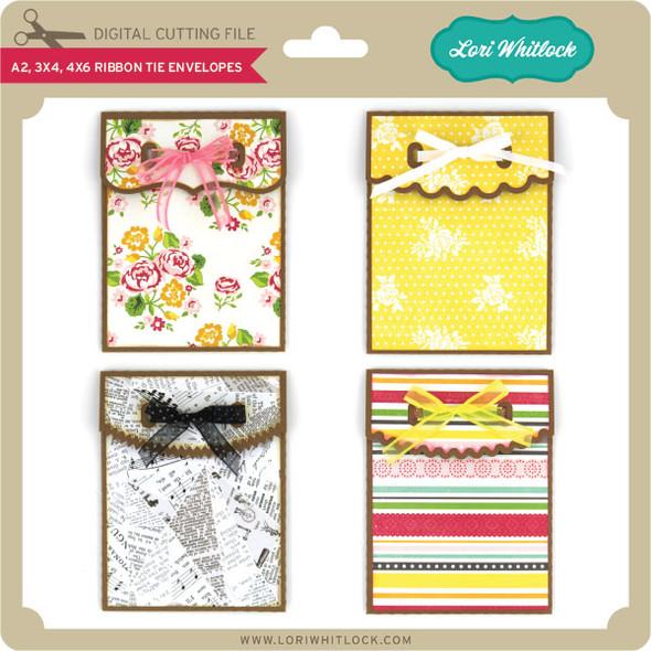 A2 3x4 4x6 Ribbon Tie Envelopes