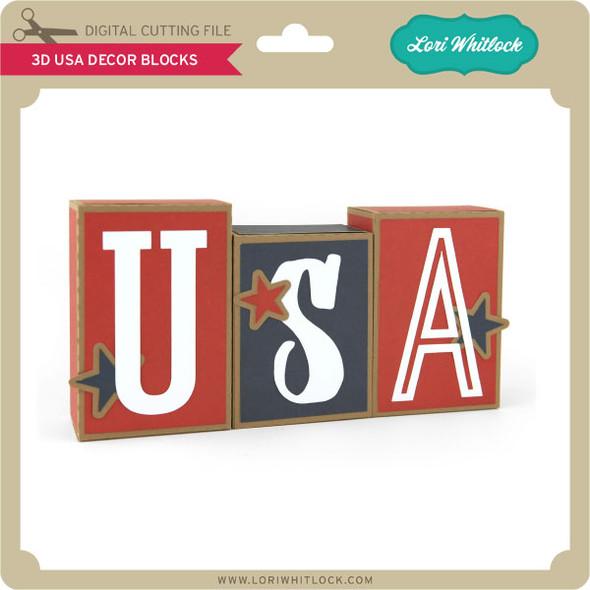 3D USA Decor Blocks