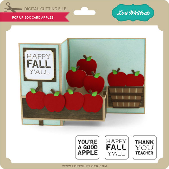 Pop Up Box Card Apples