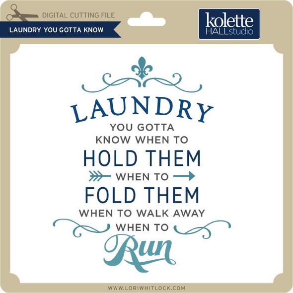 Laundry You Gotta Know