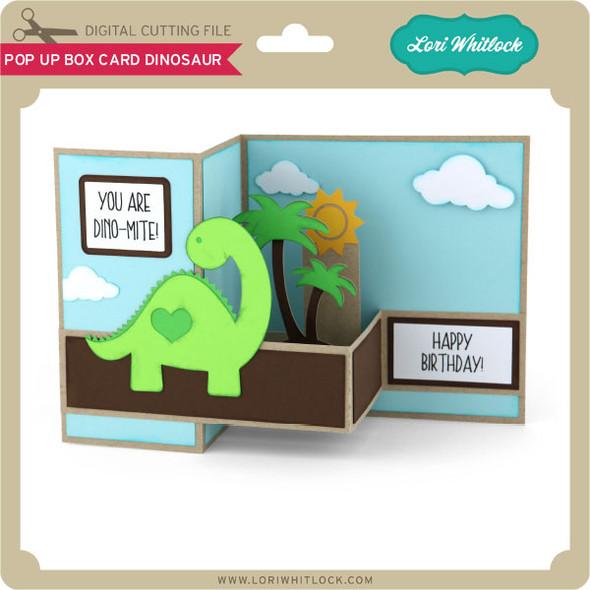 Pop Up Box Card Dinosaur