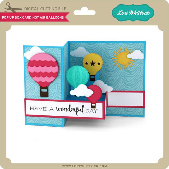 Pop Up Box Card Hot Air Balloons
