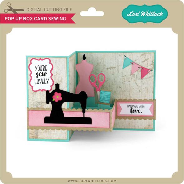 Pop Up Box Card Sewing